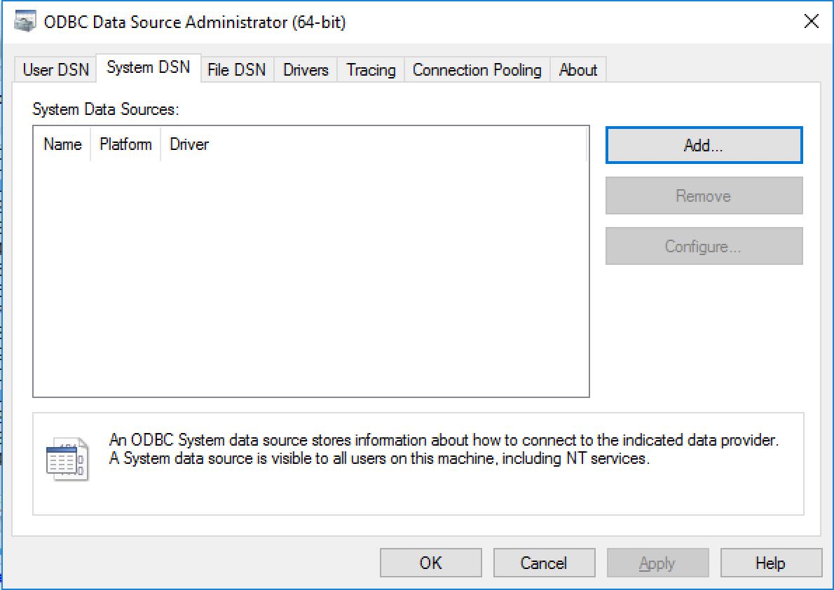 64 Bit Microsoft Access Driver