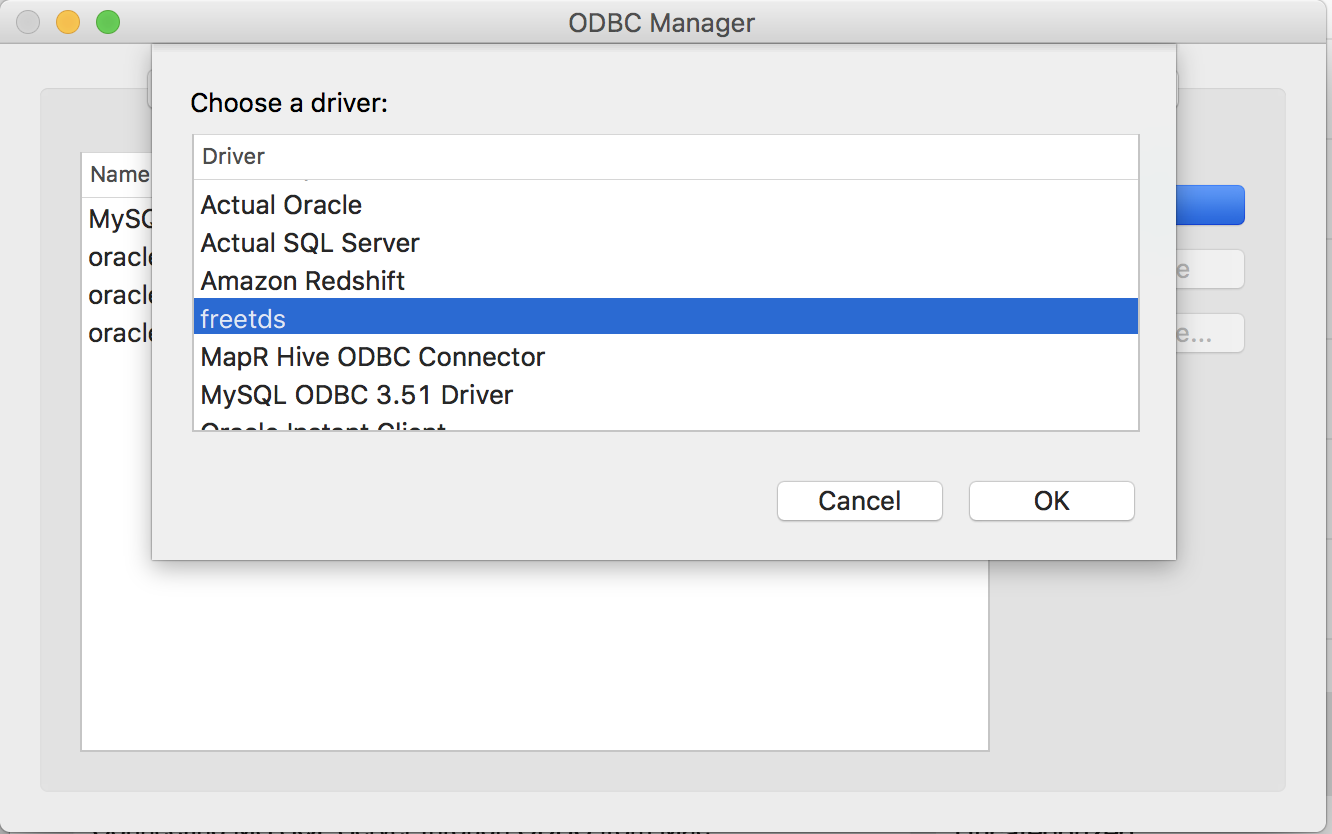 INSTALL FREETDS ODBC WINDOWS DRIVER
