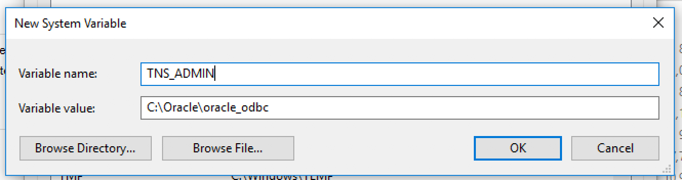 Connecting to Oracle Database through ODBC from Windows with Oracle